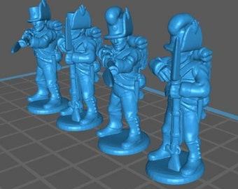 Austrian Landwehr Shutzen companies - Great for Table Top War Games And Dioramas - Resin 28mm Miniatures - Bolt Action -