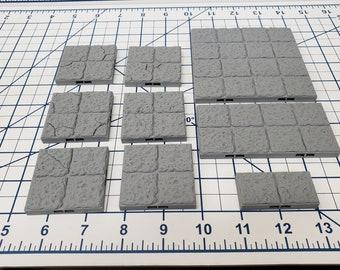 "Dungeon Style - Floor Tiles - DragonLock - DND - Pathfinder - RPG - Dungeon & Dragons - 28 mm / 1"" - Terrain - Fat Dragon Games"