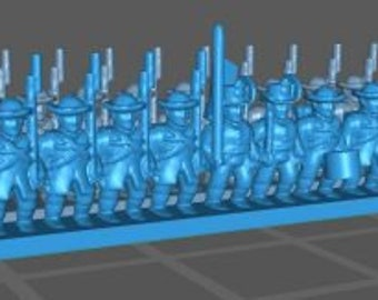 Austrian Landwerhr Rundhut - Great for Table Top War Games And Dioramas - Resin 6mm Miniatures - Bolt Action -