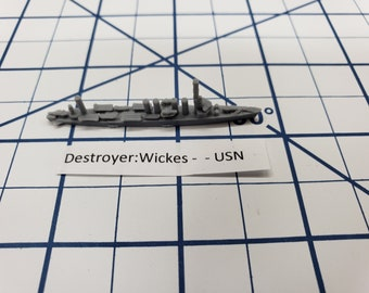 Destroyer - Wickes Class - USN - Wargaming - Axis and Allies - Naval Miniature - Victory at Sea - Tabletop Games - Warships
