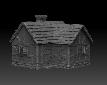 House 3 - DND - Dungeons & Dragons - RPG - Pathfinder - Tabletop - TTRPG - Medieval Scenery - Dark Realms - 28 mm