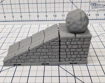 "Dungeon Style - Boulder Ramp Trap - DragonLock - DND - Pathfinder - RPG - Dungeon & Dragons - 28 mm / 1"" - Terrain - Fat Dragon Games"