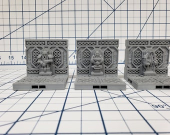 "Mountain King - Wall Statue Tile - DragonLock - DND - Pathfinder - RPG - Dungeon & Dragons - 28 mm / 1"" - Fat Dragon Games"