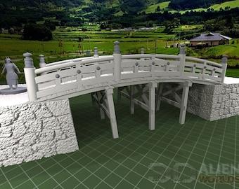 "Samurai - Bridges - DND - Pathfinder - Dungeons & Dragons - Warhammer - Test of Honour - RPG - Tabletop - 28 mm / 1"""