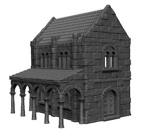 House 2 - DND - Dungeons & Dragons - RPG - Pathfinder - Tabletop - TTRPG - Arkenfel - Dark Realms - 32 mm