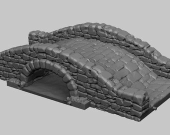 The Bridge - DND - Dungeons & Dragons - RPG - Pathfinder - Tabletop - TTRPG - Medieval Scenery - Dark Realms - 28 mm
