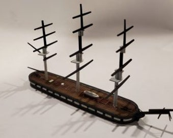 USS Cumberland - Union - Ships - Sailboats - Age of Sail - War Game - Wargaming - Tabletop Games - 1/600 Scale