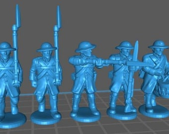 Austrian Landwehr with Rundenhut and Uberrock - Great for Table Top War Games And Dioramas - Resin 28mm Miniatures - Bolt Action -