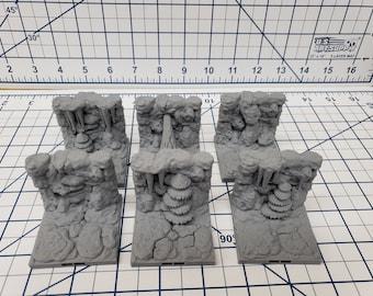 "Caverns - Straight Wall Tiles- DragonLock - DND - Pathfinder - RPG - Dungeon & Dragons - 28 mm / 1"" - Terrain - Fat Dragon Games"