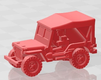 Jeep Closed - USA - Tanks - Armored Vehicle - World Of Tanks - War Game - Wargaming - Axis and Allies - Tabletop Games