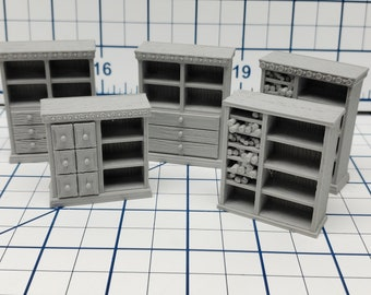 """Bookcase with Drawers / Scrolls - Dragonshire - Fat Dragon Games - DND - Pathfinder - RPG - Terrain - 28 mm / 1"""" - Dungeon & Dragons"""