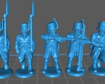 Austrian Landwehr with Korsehut and Uberrock - Great for Table Top War Games And Dioramas - Resin 28mm Miniatures - Bolt Action -