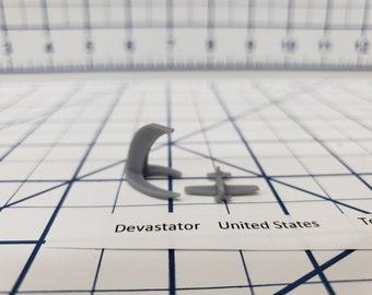 Aircraft - Devastator - US Navy - 1:900 - Wargaming - Axis and Allies - Naval Miniature - Victory at Sea - Tabletop Games - Warships