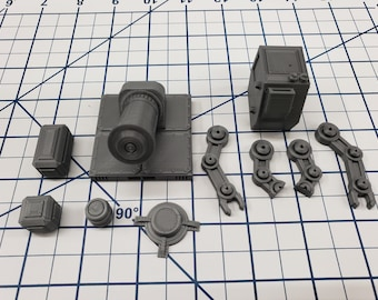 "Cargo Set - SciFi - Fat Dragon Games - DragonLock - DND - Pathfinder - RPG - Terrain - Space - Science Fiction  28 mm / 1"""