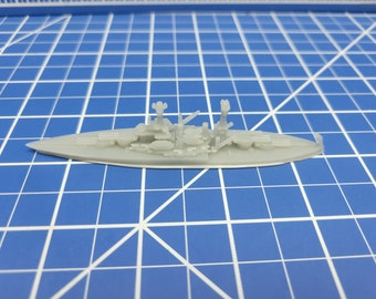 Battleship - Tennessee - 1939 Variant - US Navy - Wargaming - Axis and Allies - Naval Miniature - Victory at Sea - Tabletop Games - Warships