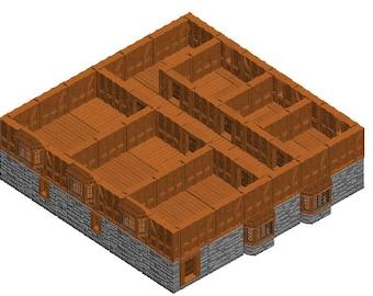 "Large Tavern Building Sets - Dragonshire - DragonLock - Fat Dragon Games - DND - Pathfinder - RPG - Terrain - 28 mm / 1"" - Dungeon & Dragons"