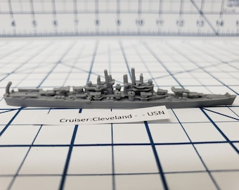 Cruiser - Cleveland - USN - Wargaming - Axis and Allies - Naval Miniature - Victory at Sea - Tabletop Games - Warships