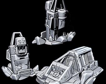 "Wrecked Speeders - Novus Landing - Starfinder - Cyberpunk - Science Fiction - Syfy - RPG - Tabletop - Scatter- Terrain- 28 mm / 1"""