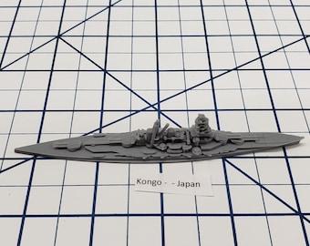 Battleship - Kongo - IJN -  Wargaming - Axis and Allies - Naval Miniature - Victory at Sea - Tabletop Games - Warships