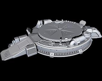 "Hanger Landing Pad- Novus Landing - Starfinder - Cyberpunk - Science Fiction - Syfy - RPG - Tabletop - Scatter - Terrain - 28 mm / 1"""