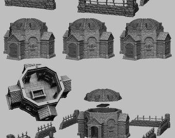 Mausoleum - DND - Dungeons & Dragons - RPG - Pathfinder - Tabletop - TTRPG - Medieval Scenery - Dark Realms - 28 mm