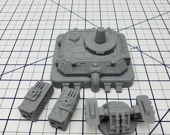 Missile Turret - Ignis Quadrant - Hero's Hoard - Starfinder - Cyberpunk - Science Fiction - Syfy - RPG - Tabletop - EC3D - Scatter - Terrain