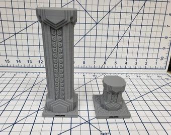 """Mountain King - Pillar Tile - DragonLock - DND - Pathfinder - RPG - Dungeon & Dragons - 28 mm / 1"""" - Fat Dragon Games"""
