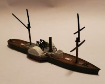 CSS Patrick Henry - Confederate - Ships - Sailboats - Age of Sail - War Game - Wargaming - Tabletop Games - 1/600 Scale