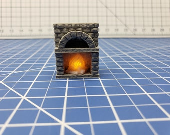 "LED Kitchen Oven - Dragonshire - DragonLock - Fat Dragon Games - DND - Pathfinder - RPG - Terrain - 28 mm / 1"" - Dungeon & Dragons"