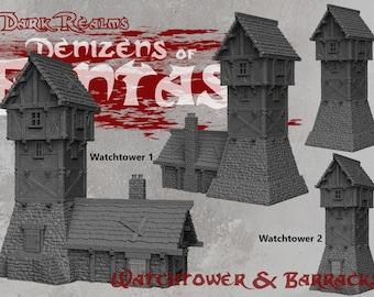 Watchtowers - DND - Dungeons & Dragons - RPG - Pathfinder - Tabletop - TTRPG - Demizens of Fantasy - Dark Realms - 32 mm