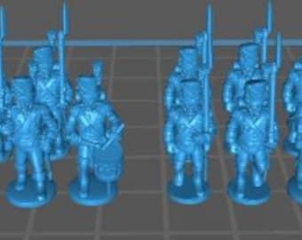 French Old Guard 1808, Grenadiers an Chasseurs - Great for Table Top War Games And Dioramas - Resin 28mm Miniatures - Bolt Action -