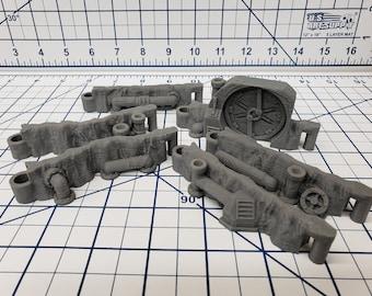 """DungeonSticks - Steamworks Style - DND - Pathfinder - Dungeons & Dragons - Terrain - RPG - Tabletop - 28 mm / 1"""""""