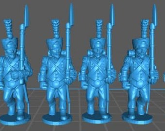 French Line elites 1808, campaign uniform - Great for Table Top War Games And Dioramas - Resin 28mm Miniatures - Bolt Action -