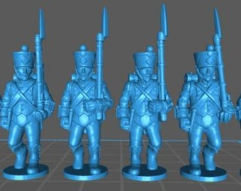 French Light 1808, high uniform - Great for Table Top War Games And Dioramas - Resin 28mm Miniatures - Bolt Action -
