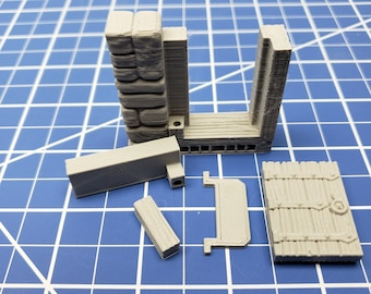 """Stone Wall Doors - Dragonshire - Building - Fat Dragon Games - DND - Pathfinder - RPG - Terrain - 28 mm/ 1"""" - Dungeon & Dragons"""