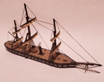 USS Minnesota - Union - Ships - Sailboats - Age of Sail - War Game - Wargaming - Tabletop Games - 1/600 Scale