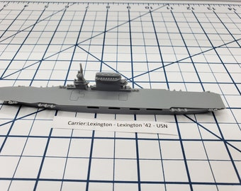 Carrier - Lexington - USN - Wargaming - Axis and Allies - Naval Miniature - Victory at Sea - Tabletop Games - Warships