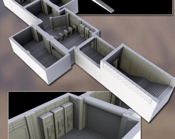 Subway Entrance - Oasis in the Sea of Dirt - Atom Punk - Starfinder - Cyberpunk -Science Fiction -Syfy - RPG- Tabletop- Scatter-28mm