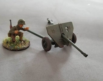 Japanese Type 1 Anti Tank Gun – Model 1938 M-30 - Great for Table Top War Games And Dioramas - Resin 28mm Miniatures - Bolt Action -
