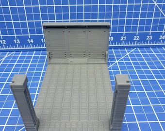 Long Room Floor Tiles - Atomic Shelter - Atom Punk - Starfinder - Cyberpunk - Science Fiction - Syfy - RPG - Tabletop - Scatter - 28mm