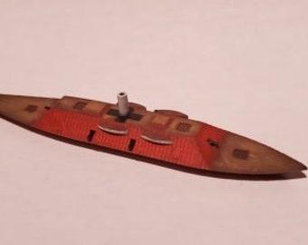 CSS Charleston - Confederate - Ships - Sailboats - Age of Sail - War Game - Wargaming - Tabletop Games - 1/600 Scale