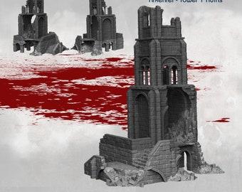 Tower 1 Ruins - DND - Dungeons & Dragons - RPG - Pathfinder - Tabletop - TTRPG - Arkenfel - Dark Realms - 28 mm