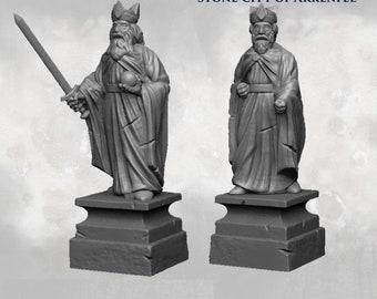 Statues And Ruins - DND - Dungeons & Dragons - RPG - Pathfinder - Tabletop - TTRPG - Arkenfel - Dark Realms - 28 mm