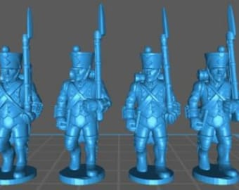French Line 1808, high uniform - Great for Table Top War Games And Dioramas - Resin 28mm Miniatures - Bolt Action -