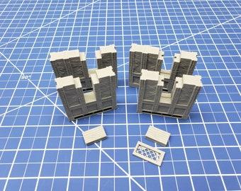 "Half-Timbered Window Internal Walls - Dragonshire - Building - Fat Dragon - DND - Pathfinder - RPG - Terrain - 28 mm/ 1"" - Dungeon & Dragons"