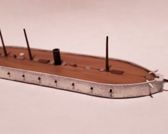 USS New Ironsides - Union - Ships - Sailboats - Age of Sail - War Game - Wargaming - Tabletop Games - 1/600 Scale