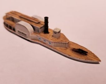 CSS/USS Planter - Confederate/Union - Ships - Sailboats - Age of Sail - War Game - Wargaming - Tabletop Games - 1/600 Scale