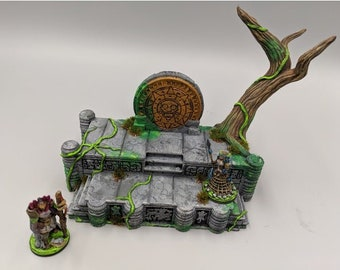 """OpenForge - Places of Power - Overgrown Temple - Tabletop - DND - Pathfinder - RPG - 28 mm / 1"""" - Terrain - Dungeons & Dragons - Warhammer"""
