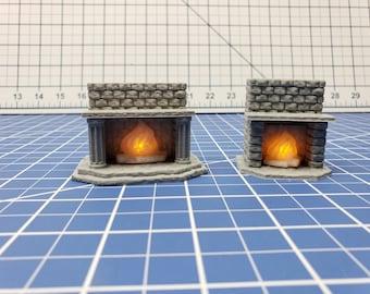 "LED Fireplace - Dragonshire - DragonLock - Fat Dragon Games - DND - Pathfinder - RPG - Terrain - 28 mm / 1"" - Dungeon & Dragons"