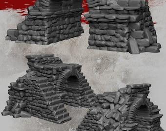 Ruined Gateway - DND - Dungeons & Dragons - RPG - Pathfinder - Tabletop - TTRPG - Demizens of Fantasy - Dark Realms - 28 mm